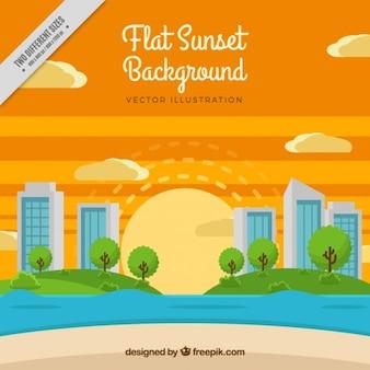 Nice background of sunset