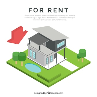 Nice background with a concept of house for rent
