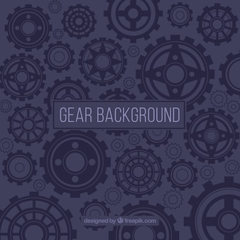 Nice background with different types of gears
