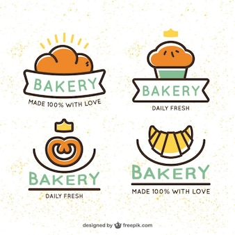 Nice bakery logotypes
