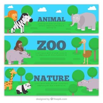 動物園の素敵なバナー