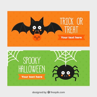 Nizza striscioni con un ragno e un pipistrello