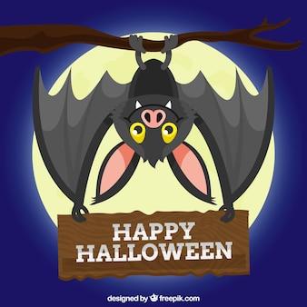 Nice bat фон с плакат хэллоуина