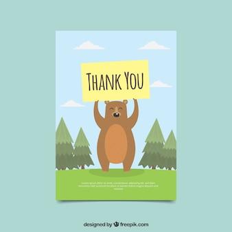 감사 포스터 좋은 곰 카드
