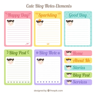Nice blog note elements