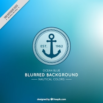 Nice blurred background with anchor and nautical colors