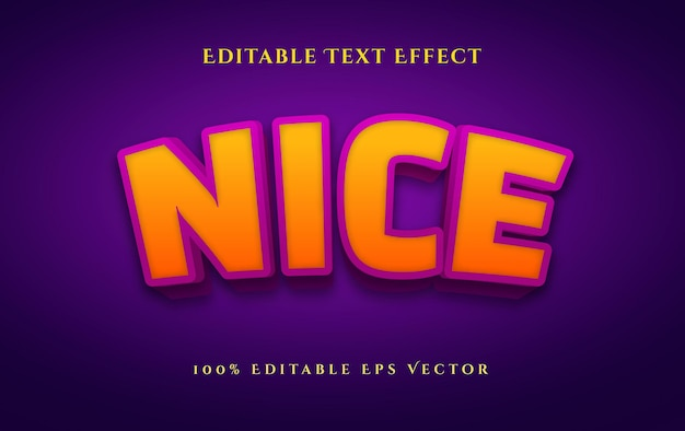 Nice bold 3d style editable vector text effect easy to edit
