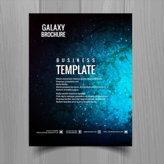 Nice brochure about galaxy Free Vector
