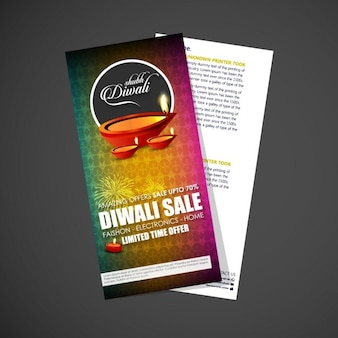 Nice brochure for diwali celebration