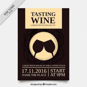 Nice brochure for a wine tasting