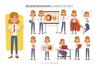 Nice businesswoman character set