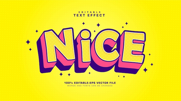 Nice cartoon text effect