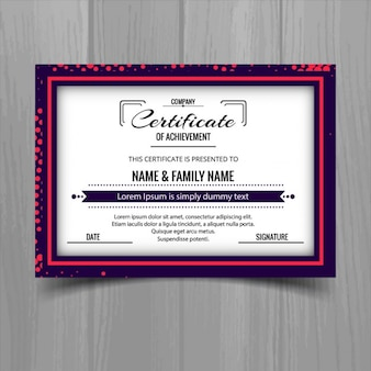 Nice certificate with a dotted frame