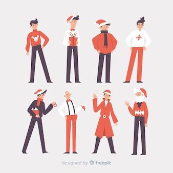 Nice christmas character collection