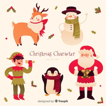 Nice christmas character collection