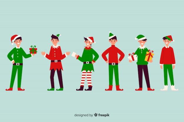 Nice christmas character set
