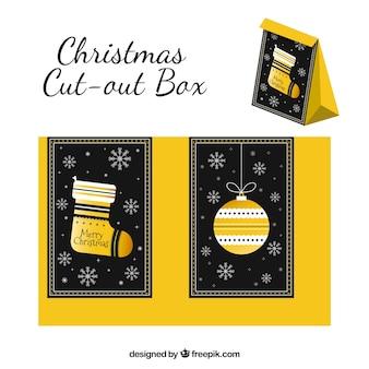 멋진 크리스마스 컷 아웃 상자