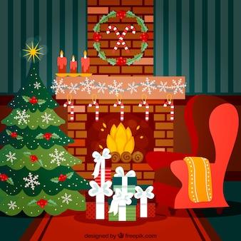 Nice christmas living room