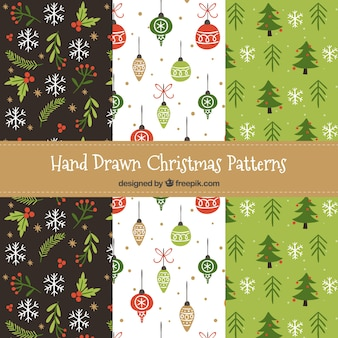 Nice christmas patterns set