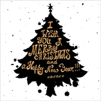 Nice christmas tree hand drawn