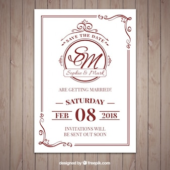 Wedding invitation vectors photos and psd files free download nice classic style wedding invitation stopboris Image collections