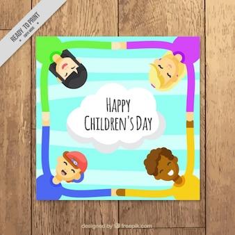ニースカラフルな子供の日カード