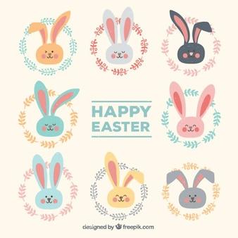 ウサギの文字が設定ニース色