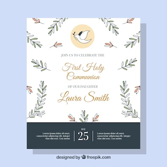 Nice communion invitation