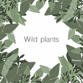 Nice composition of wild plants with copyspace in the center