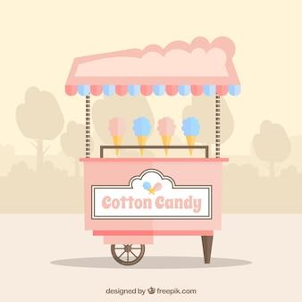Nice cotton candy cart