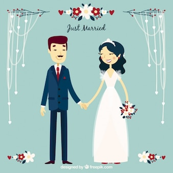 Хорошая пара только что женился