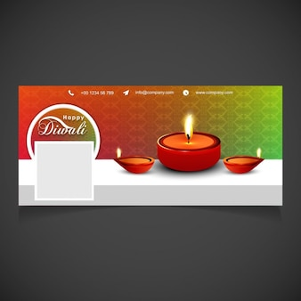 Nice cover with candles for diwali