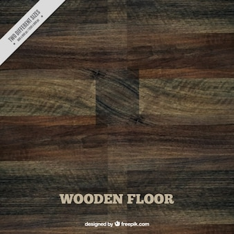 Хороший темный деревянный пол
