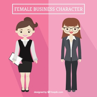 Nice designs of businesswomen