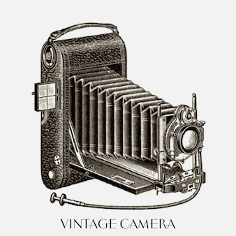 Nice drawing of a vintage camera