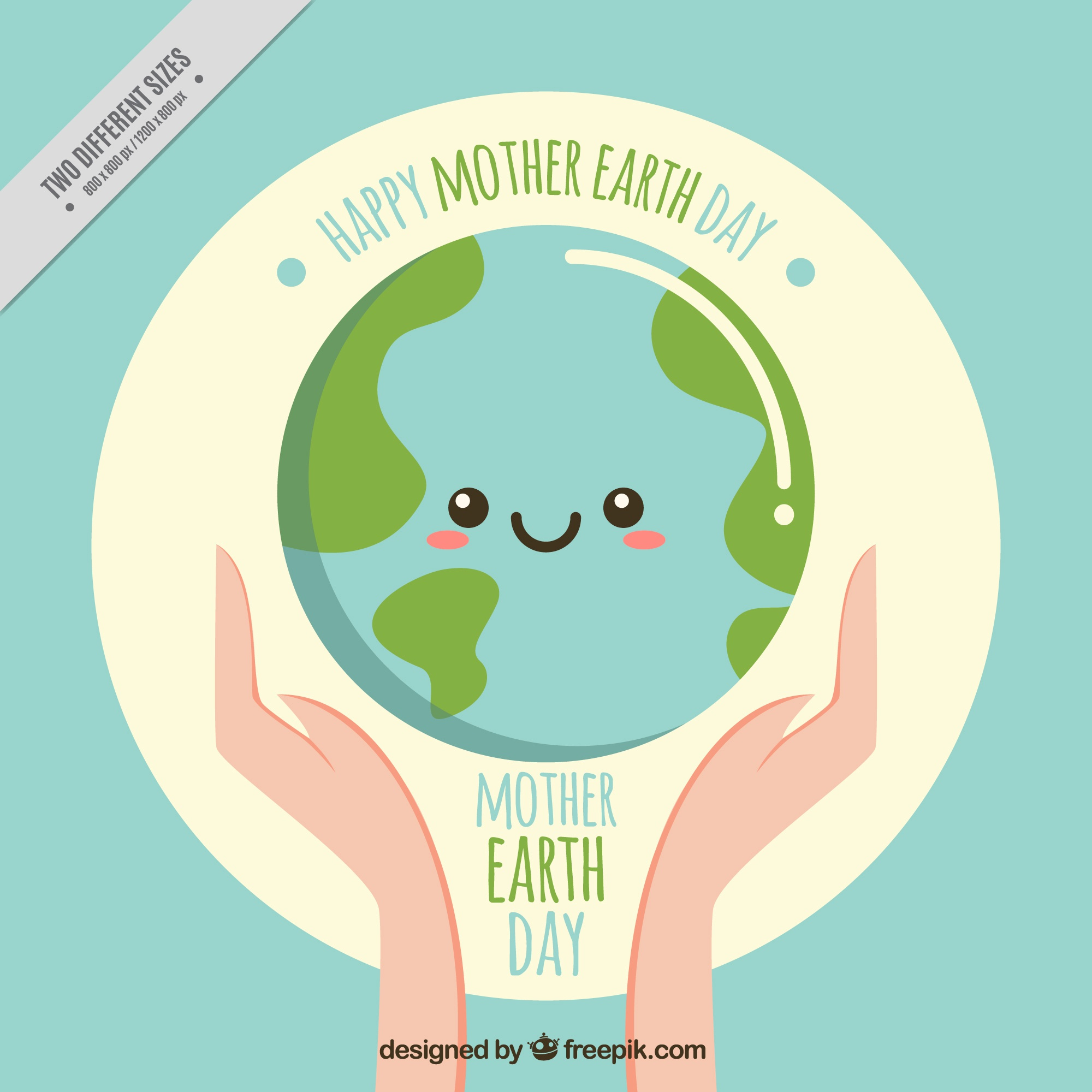 Nice earth day vintage background