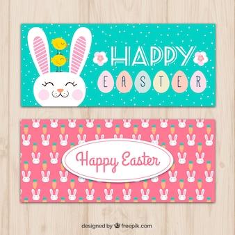Nice easter bunny banners