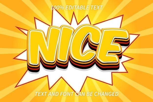 Nice editable text effect comic style