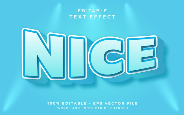 Хороший редактируемый текстовый эффект