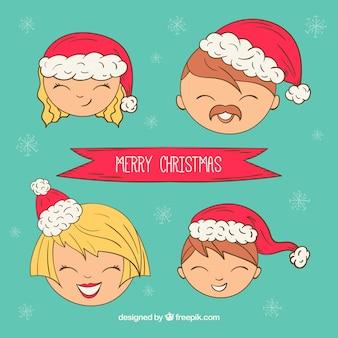 크리스마스 리본으로 좋은 가족
