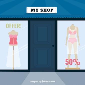 Negozio di moda bella con le offerte