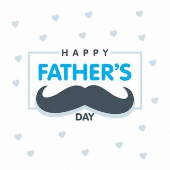 Giorno di padri felice scritta sul cuore pattern di sfondo