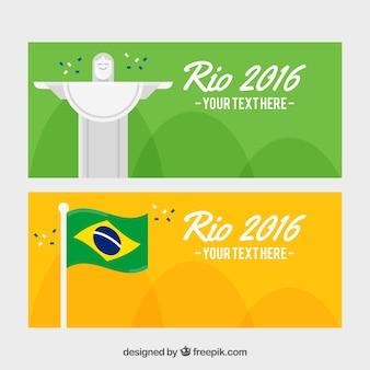 Nice flat brazil banners