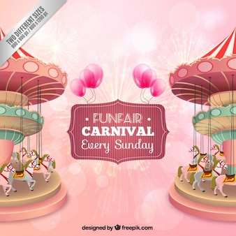 Nice funfair carousel background