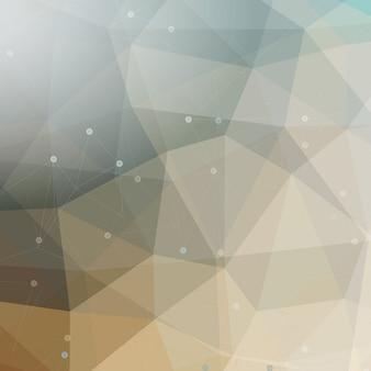 ローポリデザインの抽象的なデザイン