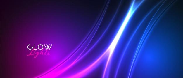 Nice glow neon light streak banner design