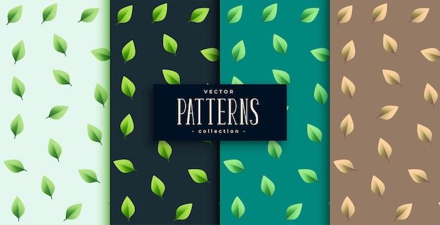 Bello sfondo verde con motivo a foglie piccole e carine