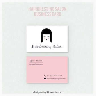 Nice hairdressing salon card
