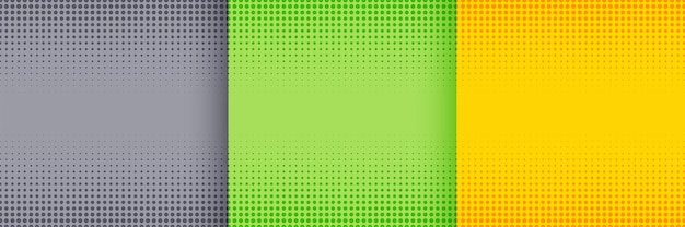 Nice halftone background set in gray green and yellow colors