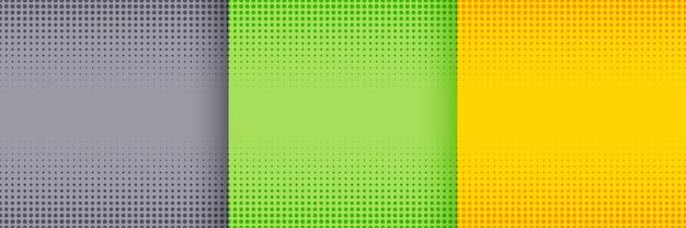 グレーグリーンと黄色の色で設定された素敵なハーフトーンの背景